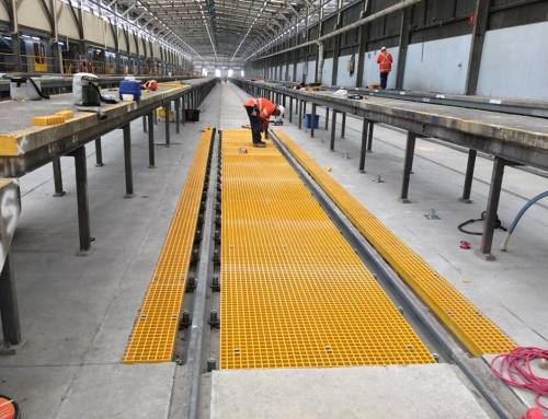 Fibreglass Reinforced Polymer (FRP) Grating Project at Sydney Train Service Yard